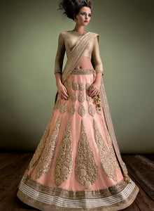 sonascouture - Peach And Gold Bridal W300
