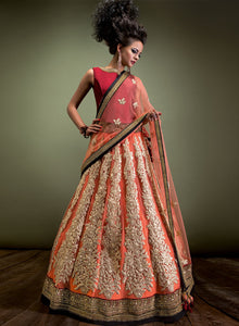 sonascouture - Rust And Maroon Bridal W302