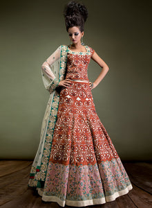 sonascouture - Beige And Rust Bridal W303