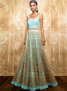 sonascouture - Aqua Blue Gown W306