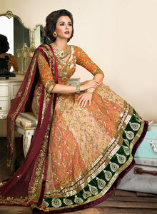 sonascouture - Maroon And Rust Bridal W310