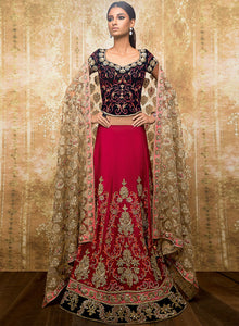 Navy Cherry Red Bridal W312 - Sonas Haute Couture