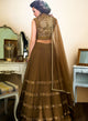 sonascouture - Olive Green Tiered Lengha W315
