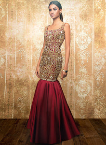 sonascouture - Maroon Gown W324