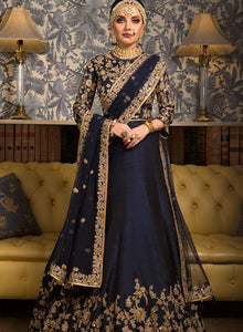 sonascouture - Tradional Navy Lengha W327