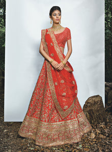 Red Bridal W338 - Sonas Haute Couture