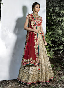 sonascouture - Gold/Maroon/Emerald Bridal W342