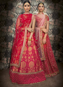 sonascouture - Deep Pink Silk Bridal W367