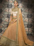 Peach and Gold Bridal W368A