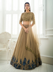 Caramel/Navy Bridal W373 - Sonas Haute Couture