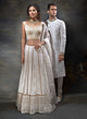 White Lucknowi Bridal W377