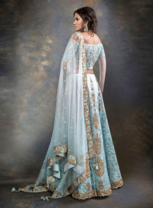 English Blue Bridal W378 - Sonas Haute Couture