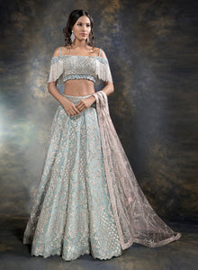 sonascouture - Contemporary Ice Blue Bridal W381
