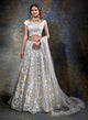 Exquisite Grey Bridal W382 - Sonas Haute Couture