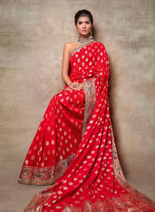 sonascouture - Red Silk Saree W384