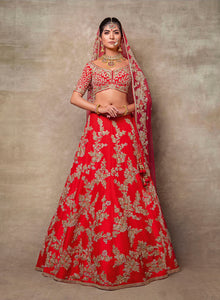 sonascouture - Coral Red Bridal W385