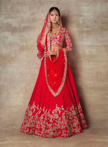 sonascouture - Traditional Red Lengha W394