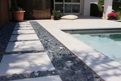 nature-inspired rock swimming pool