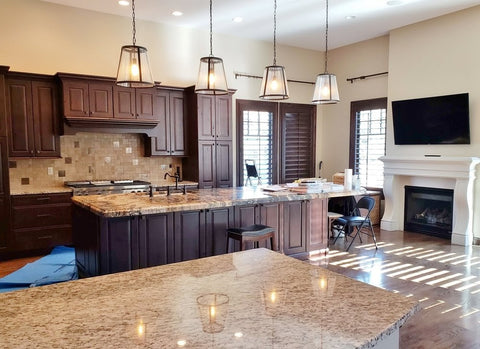 luxurious kitchen featuring tile