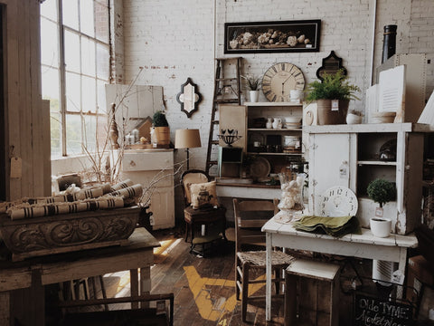 a collection of vintage decor