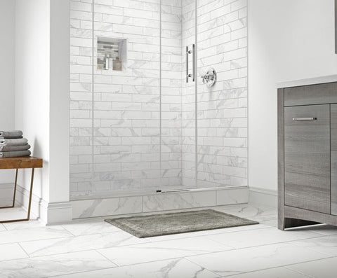 luxurious tiled shower
