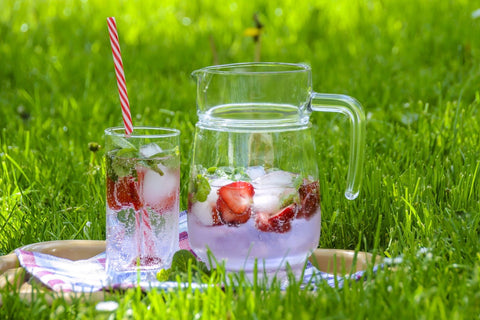 refreshing drink outside