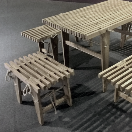PicNic Table, Grå, 120x80 cm