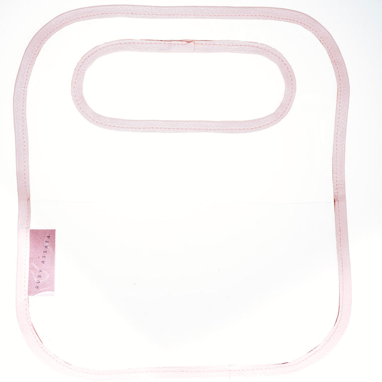Pocket Protector Bag In Clear and Pink