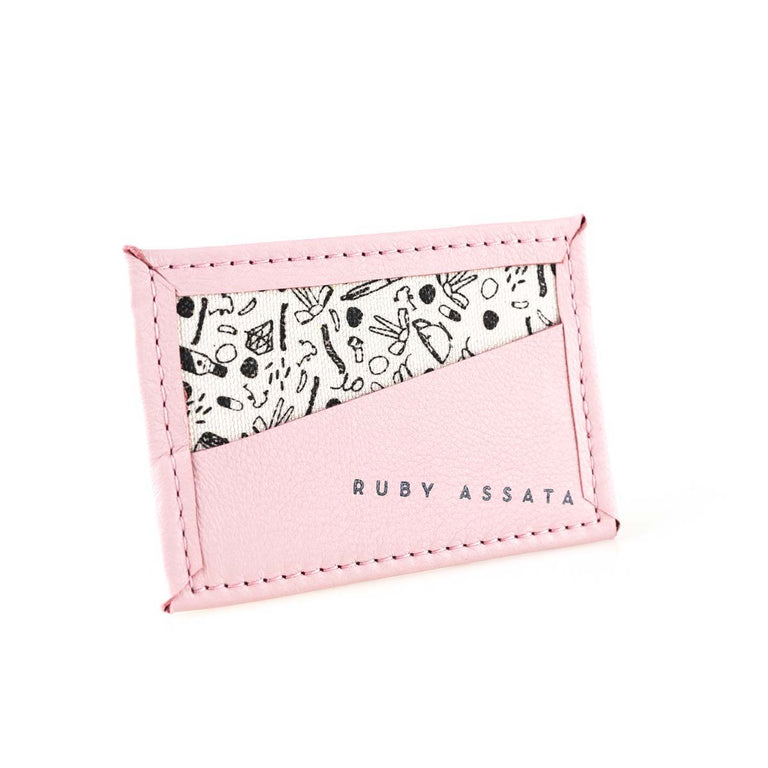 Bitsy Biz Card Holder in salt water taffy pink