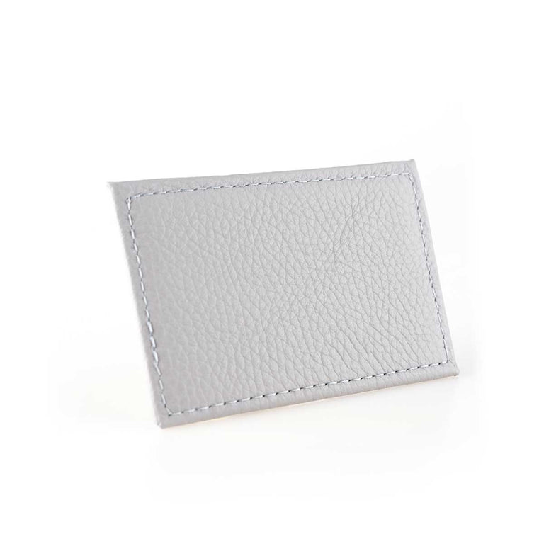 Bitsy Biz Card Holder in cream puff gray