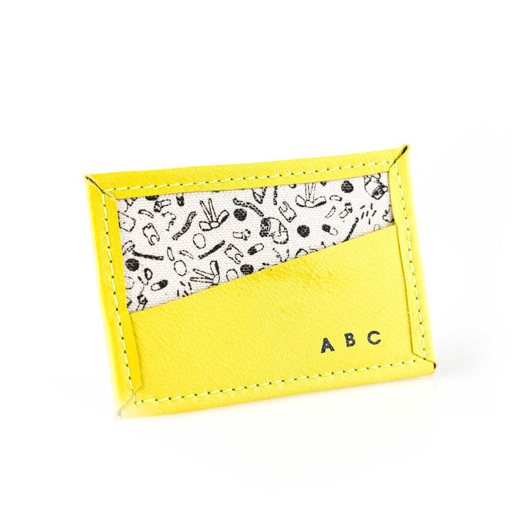 Custom Bitsy Biz Card Holder in slightly bitter yellow