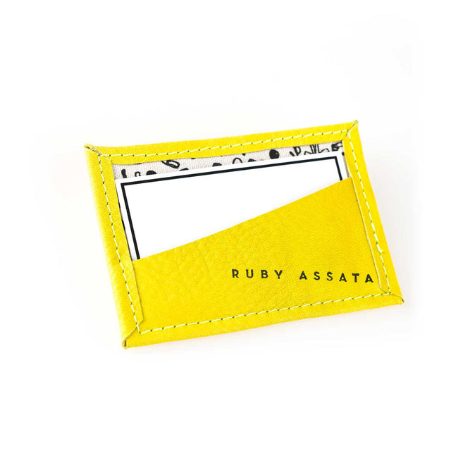 Bitsy Biz Card Holder in slightly bitter yellow