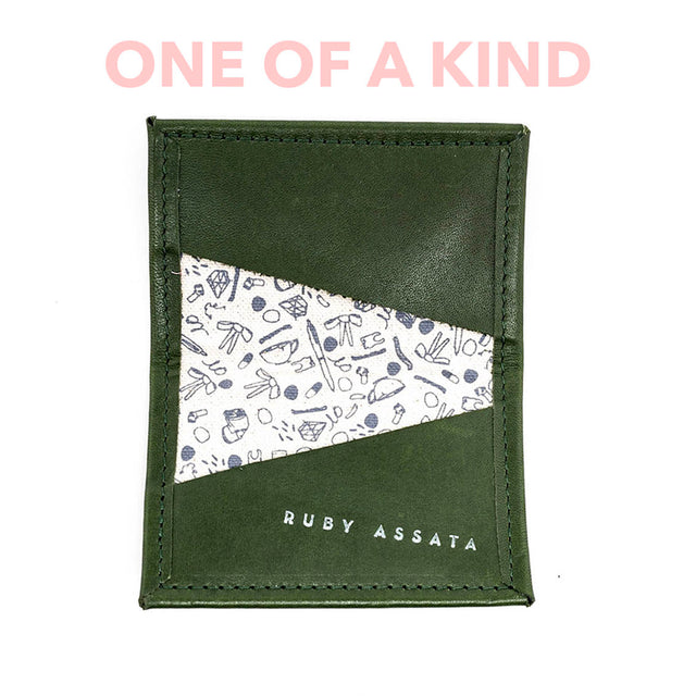 House Plant Green / Grey Tiny Wallet