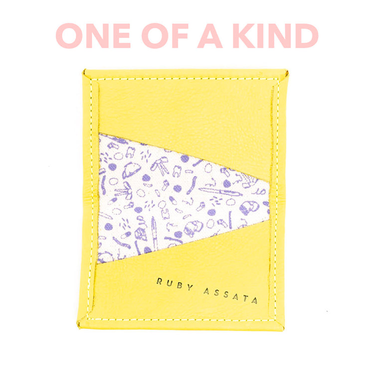 SLIGHTLY BITTER YELLOW / VIOLET TINY WALLET