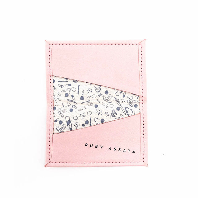 SALTWATER TAFFY PINK / GREY TINY WALLET