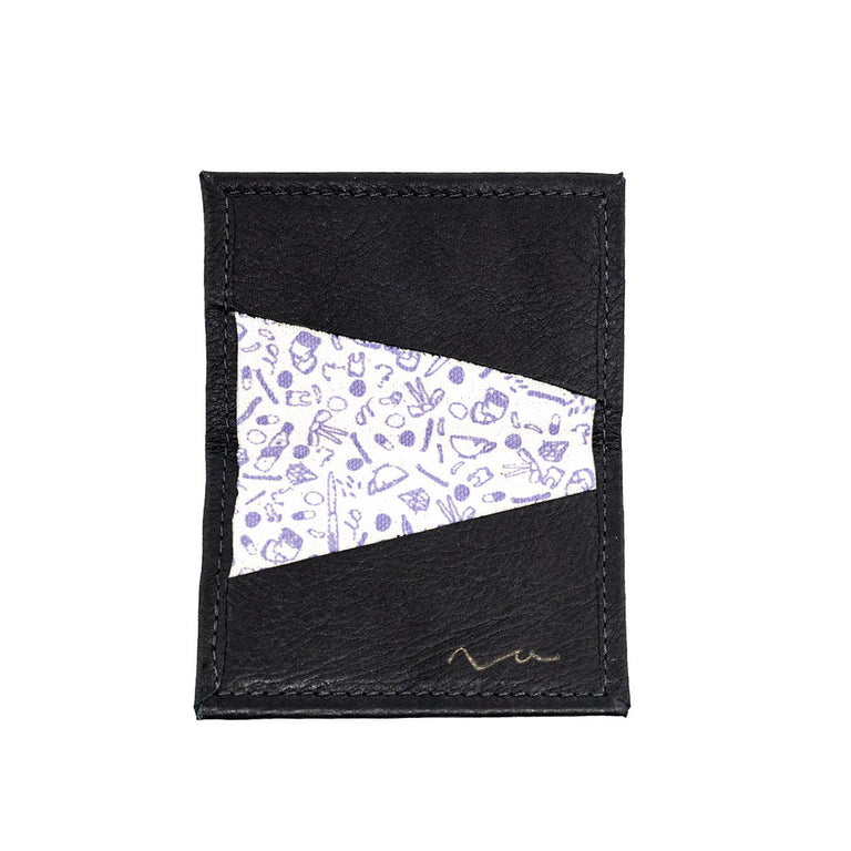 Not Tonight Black / Violet Tiny Wallet