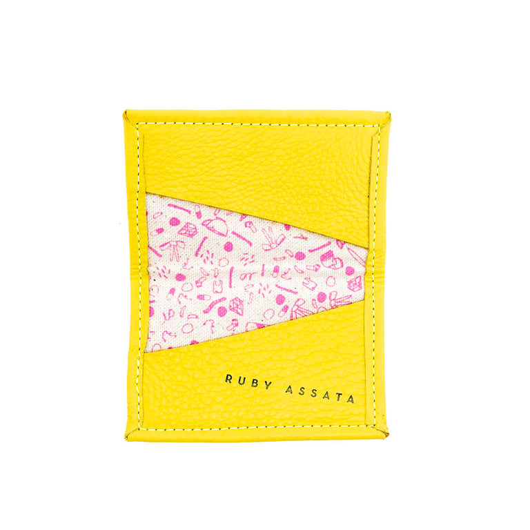 SLIGHTLY BITTER YELLOW / PINK TINY WALLET