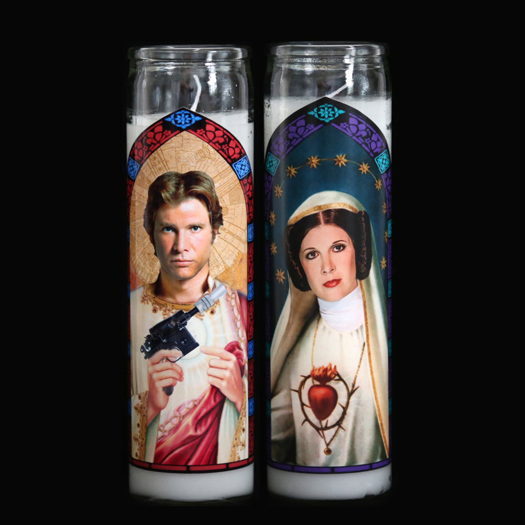 Han and Leia Prayer Candle Set