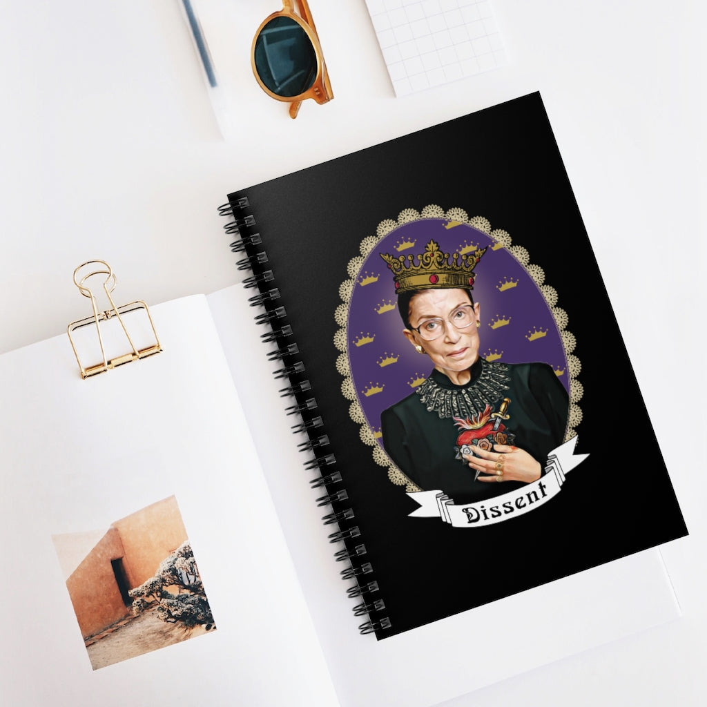 Our Lady of Dissent Spiral Notebook - RBG