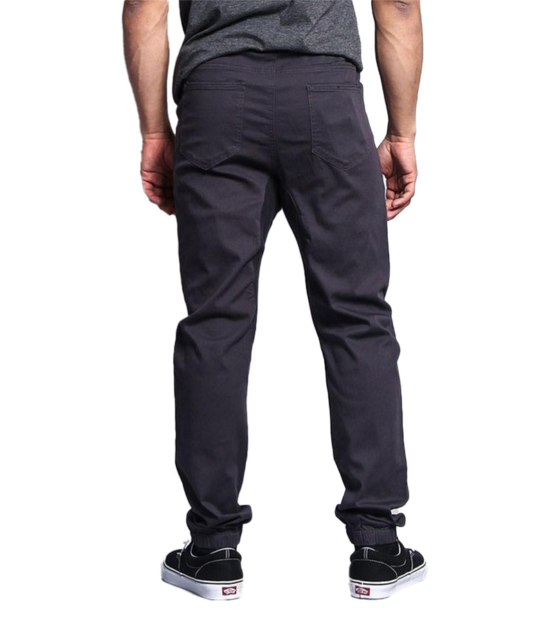 MEN TWILL JOGGER PANTS - CHARCOAL