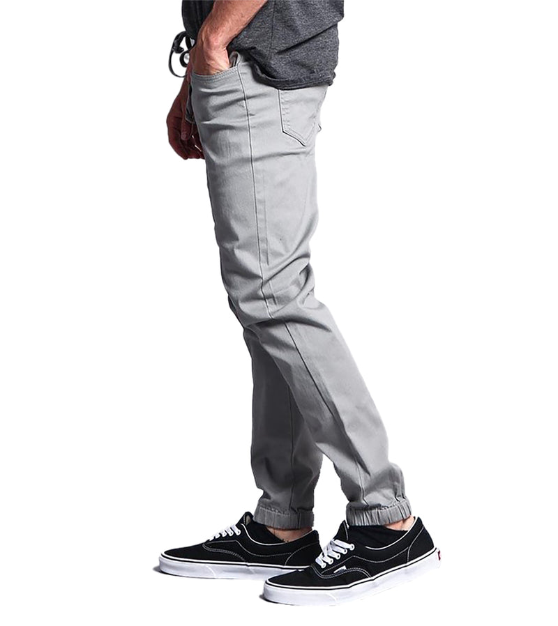 MEN TWILL JOGGER PANTS - DARK GREY