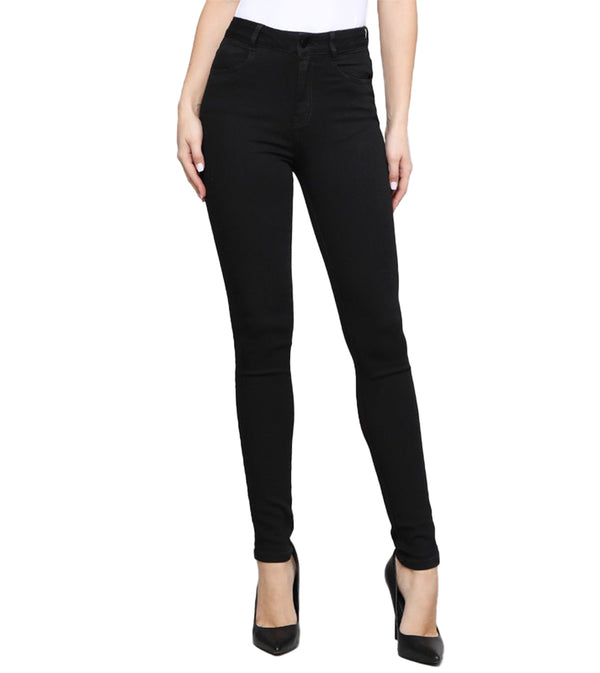WOMEN RAYON BLACK DENIM JEANS
