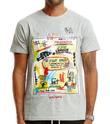 MEN ART GRAPHIC WITH EMBROIDERY ACCENT IL FAIT BEAU SHORT SLEEVES T-SHIRT - HEATHER GREY