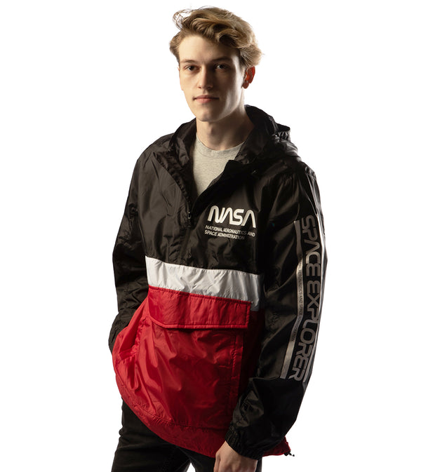 MEN NASA DOUBLE FRONT POCKET WINDBREAKER JACKET