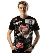 MEN SOUTHPOLE GRAPHIC ALLIGATOR ROUND NECK SHORT SLEEVES TSHIRT