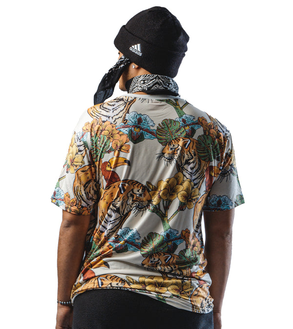 MEN COLORFUL JUNGLE TIGER SHORT SLEEVE T-SHIRT