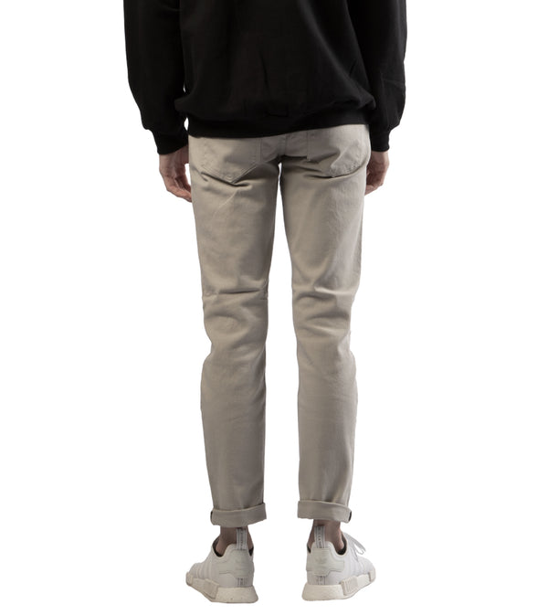 MEN COLORED SKINNY TWILL JEANS - LIGHT GREY