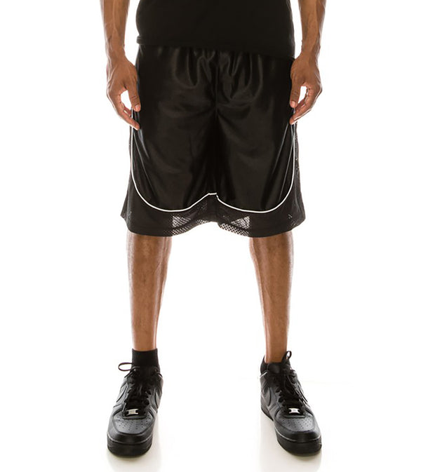MEN DAZZLE AIR-MESH BASKETBALL SHORTS - BLACK