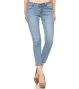 WOMEN MEDIUM BLUE ANKLE JEANS