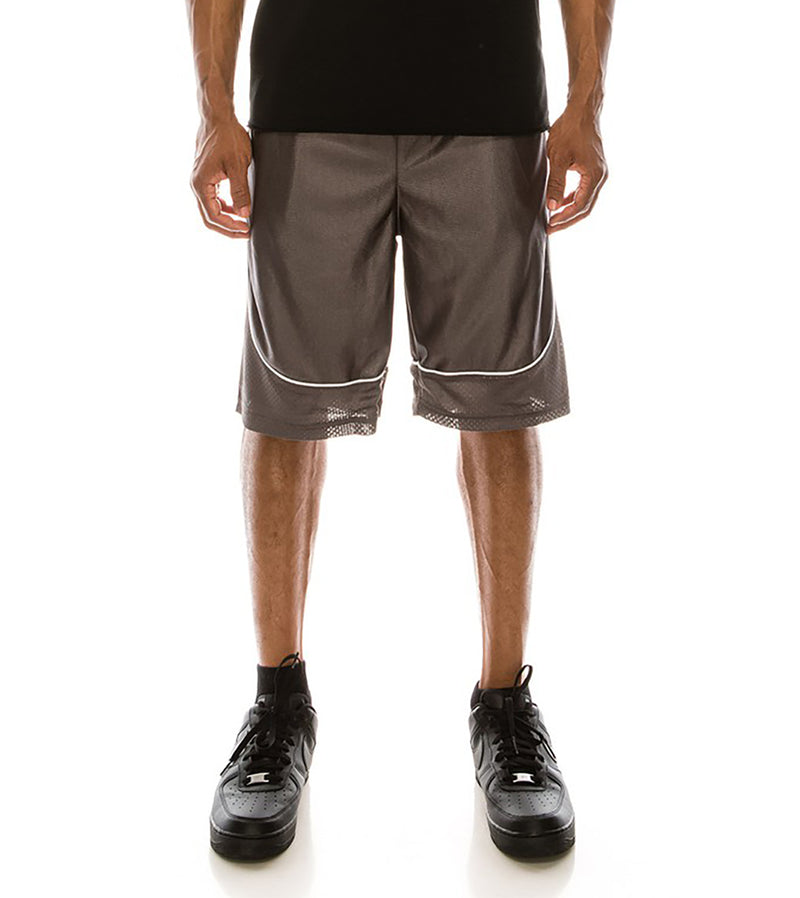 MEN DAZZLE AIR-MESH BASKETBALL SHORTS - CHARCOAL